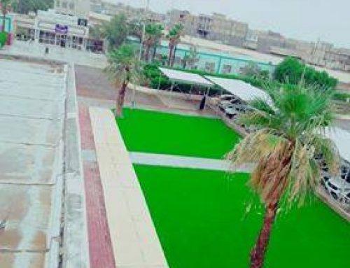 انشاء ساحات خضراء وأماكن جلوس للطلبة في المعهد التقني / العمارة